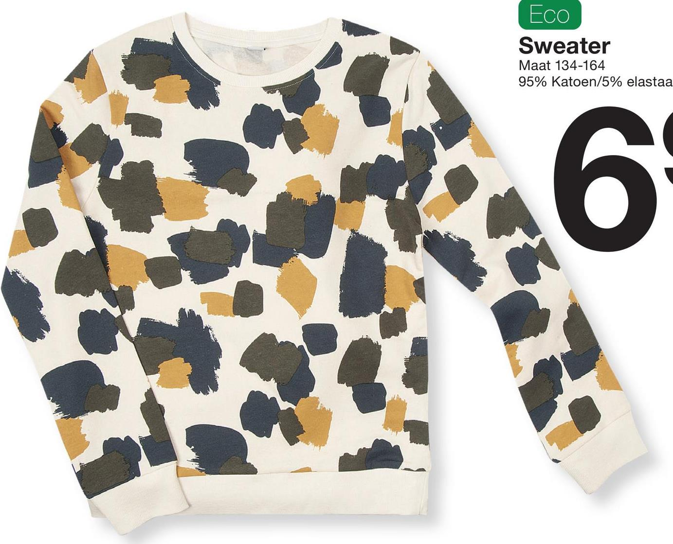 Eco Sweater Maat 134-164 95% katoen/5% elastaa 6