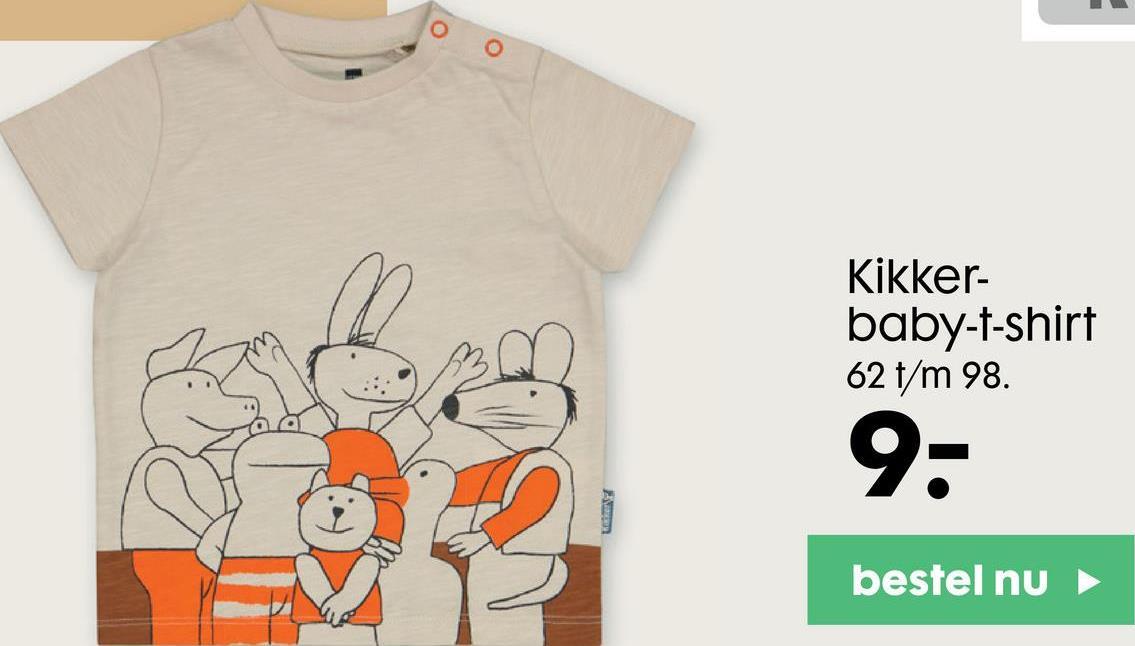 o Kikker- baby-t-shirt 62 t/m 98. 9- LENT bestel nu