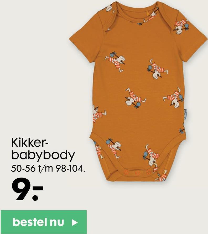 ri Kikker- babybody 50-56 t/m 98-104. 9- bestel nu