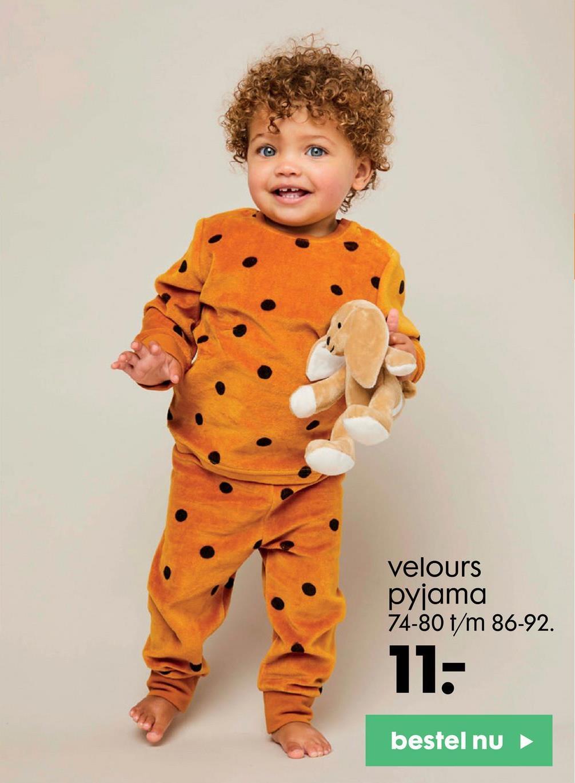 velours pyjama 74-80 t/m 86-92. 11. bestel nu