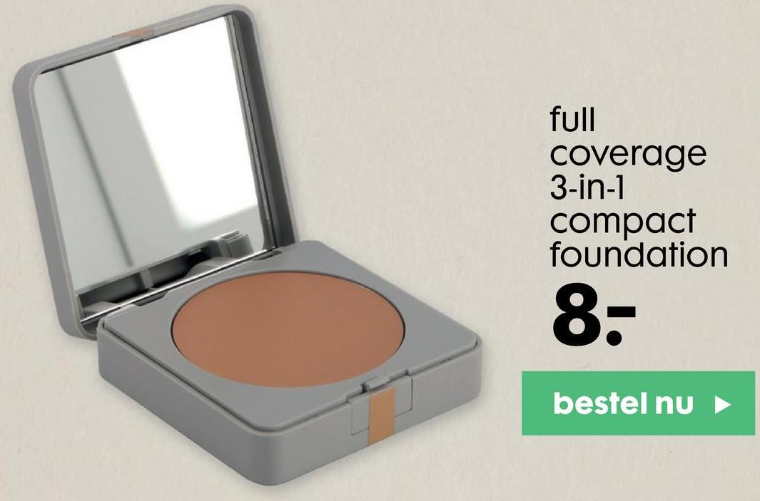 full coverage 3-in-1 compact foundation 8- bestel nu