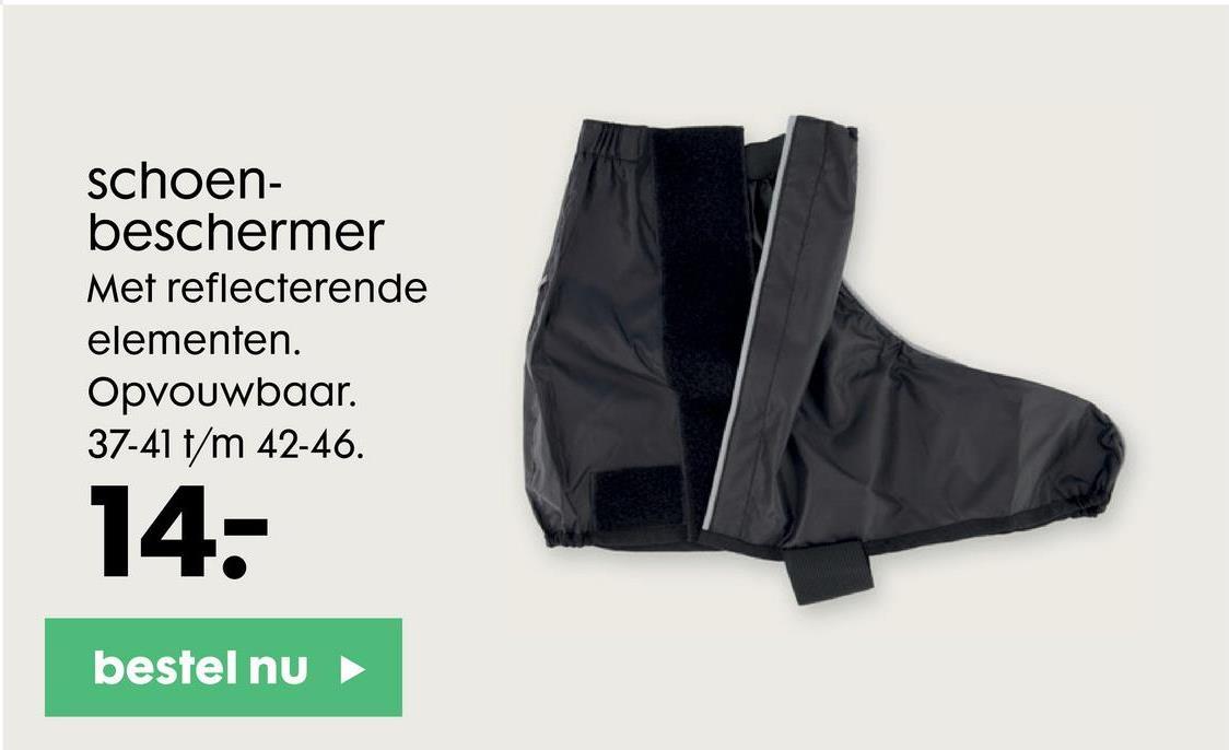 schoen- beschermer Met reflecterende elementen. Opvouwbaar. 37-41 t/m 42-46. 14: bestel nu