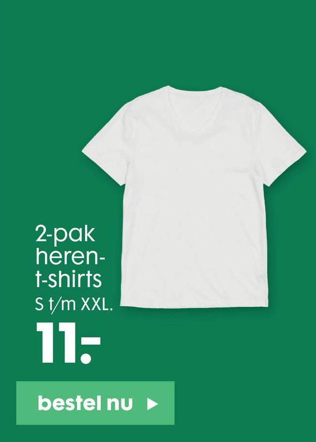 2-pak heren- t-shirts S t/m XXL. 11- bestel nu