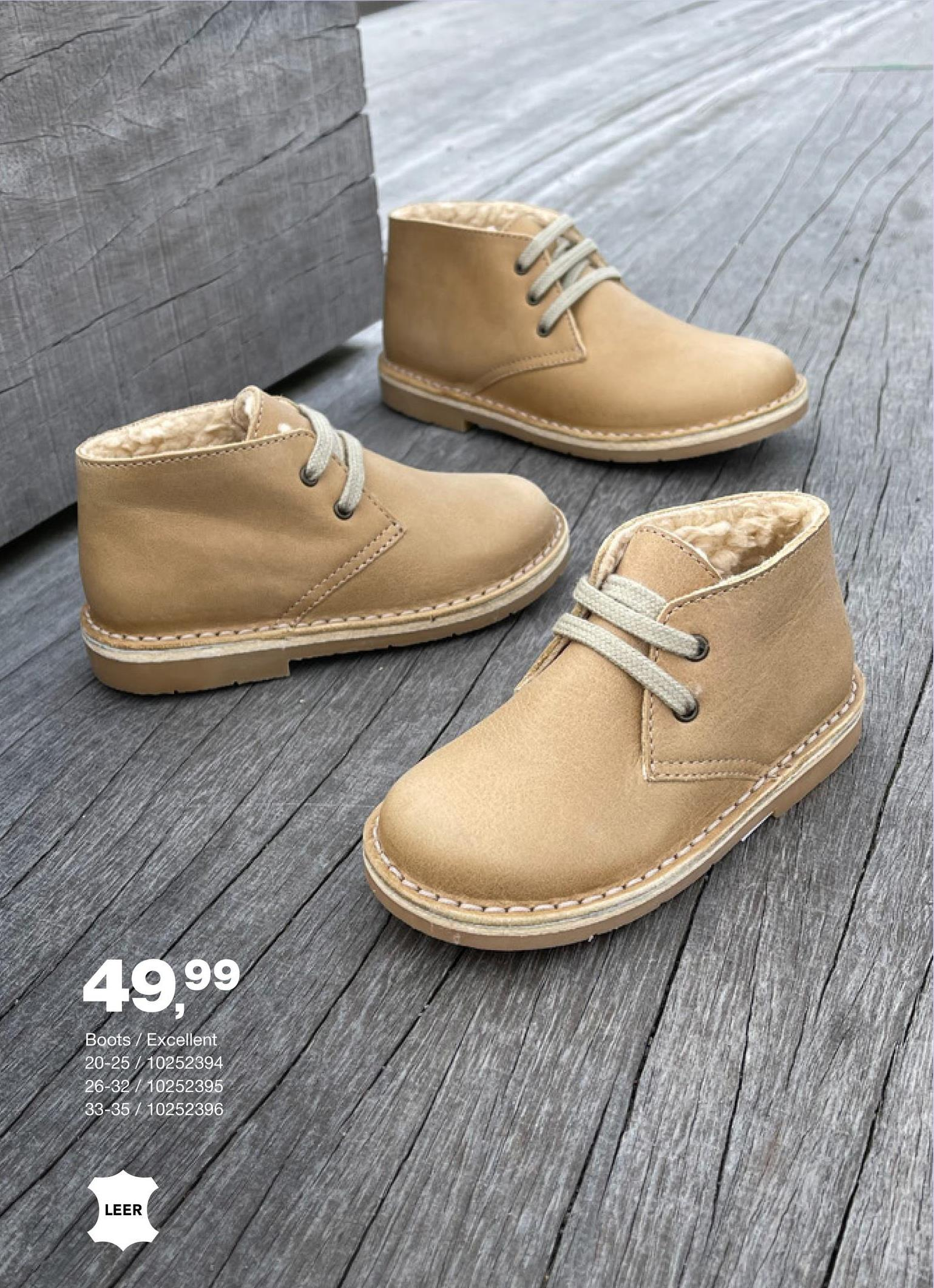 Enkellaarzen Excellent 20 - 25 - Zand - maat 20 - Goedkope Hoge schoenen boots - Hoge schoenen & Boots - Leer Nog op zoek naar een kwalitatieve en comfortabele enkellaars voor kinderen? Wat dacht je van dit leren model met warme voering van het merk Excellent?