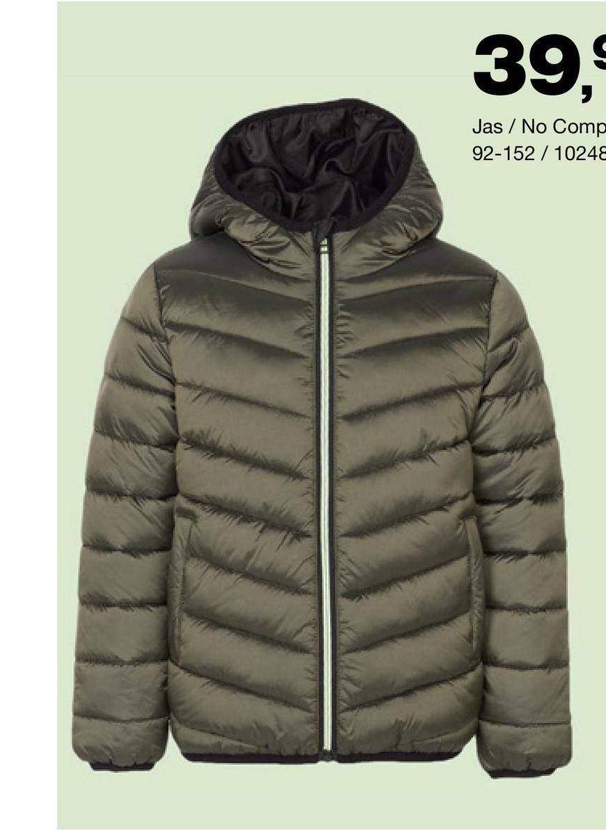 Jas No Compromise - Groen - Goedkope Jassen - Katoen Nog op zoek naar een warme winterjas voor jongens? Kies dan zeker voor dit model met makkelijke ritssluiting en capuchon van het merk No Compromise!