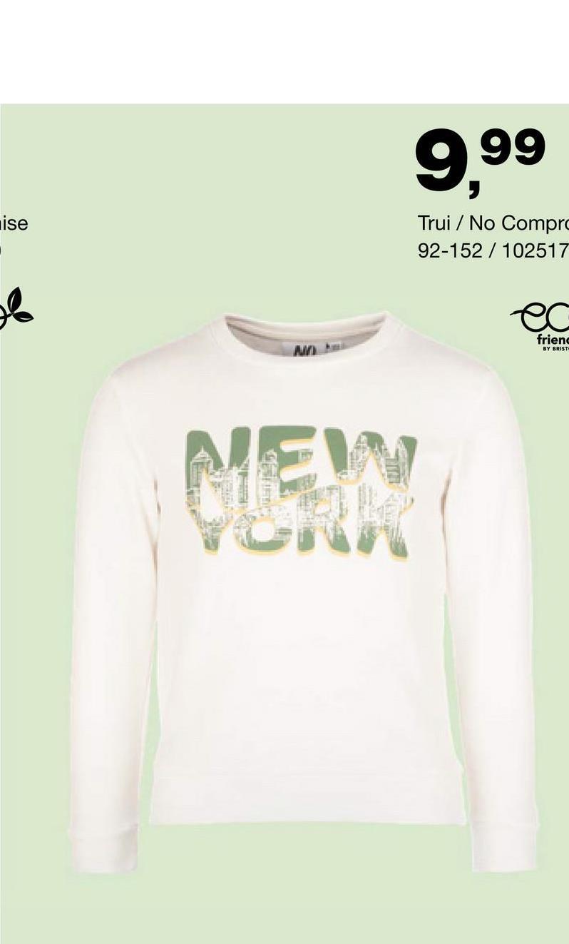 Sweater No Compromise - Off white - Truien & Vesten - Biokatoen Nog op zoek naar een casual en stoere sweater voor jongens? Wat dacht je van dit leuke model met ronde hals van het merk No Compromise? Een echte must-have!