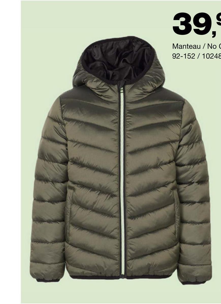 Manteau No Compromise - Vert Encore à la recherche d'un manteau chaud pour garçons ? Opte alors pour ce modèle avec fermeture à glissière facile et capuche de la marque No Compromise !