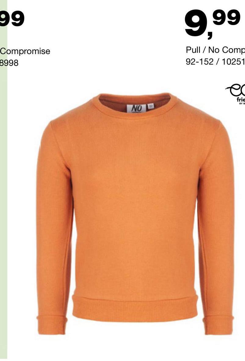 Sweater No Compromise - Blanc cassé Encore à la recherche d'un sweat décontracté à manches longues pour garçons ? Que penses-tu de ce modèle à col rond de la marque No Compromise ?