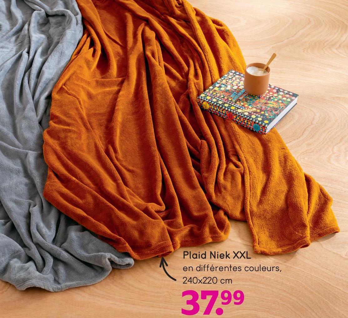Plaid Niek XXL en différentes couleurs, 240x220 cm 37.99