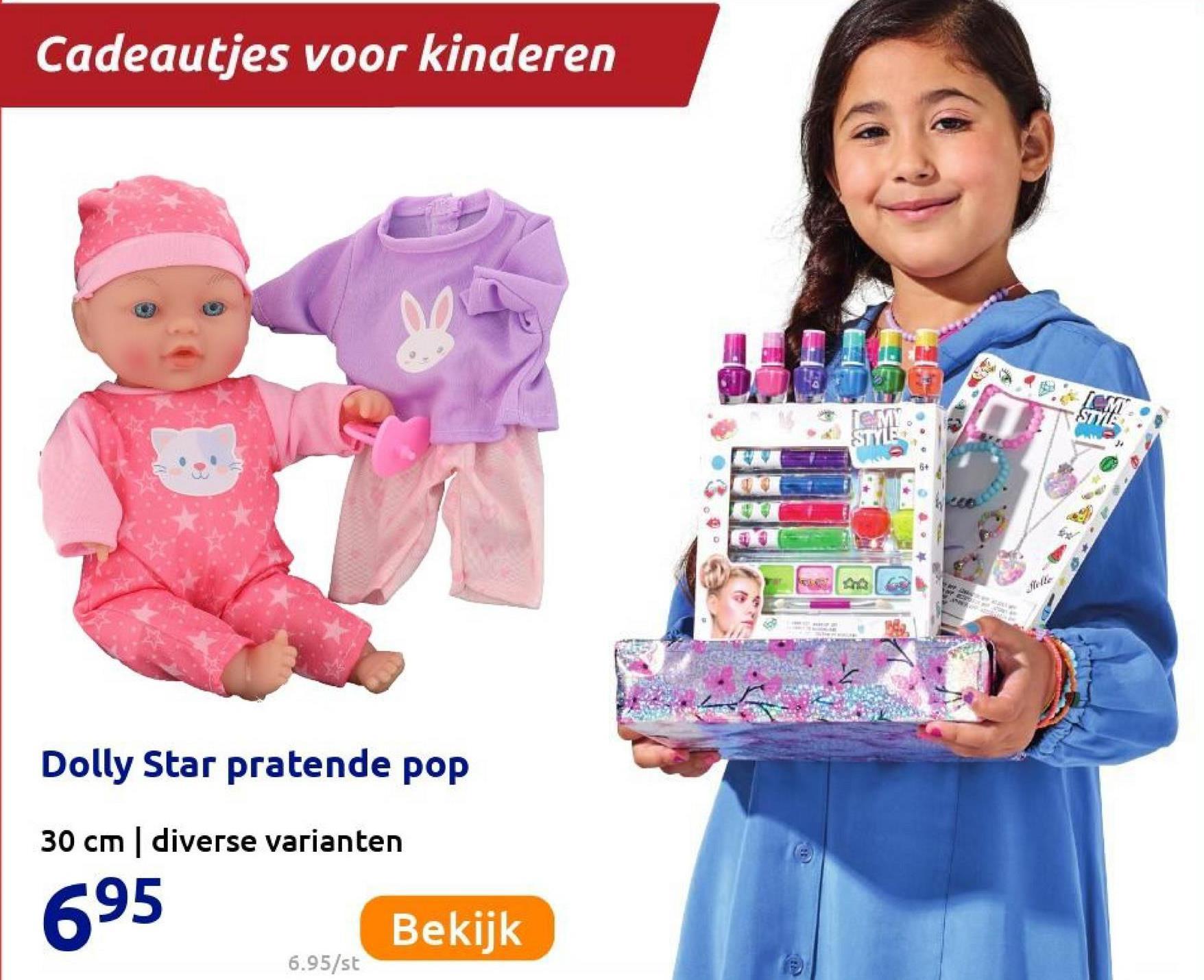Cadeautjes voor kinderen SIMY STYLE WMF E Julle Dolly Star pratende pop 30 cm diverse varianten 695 Bekijk 6.95/st