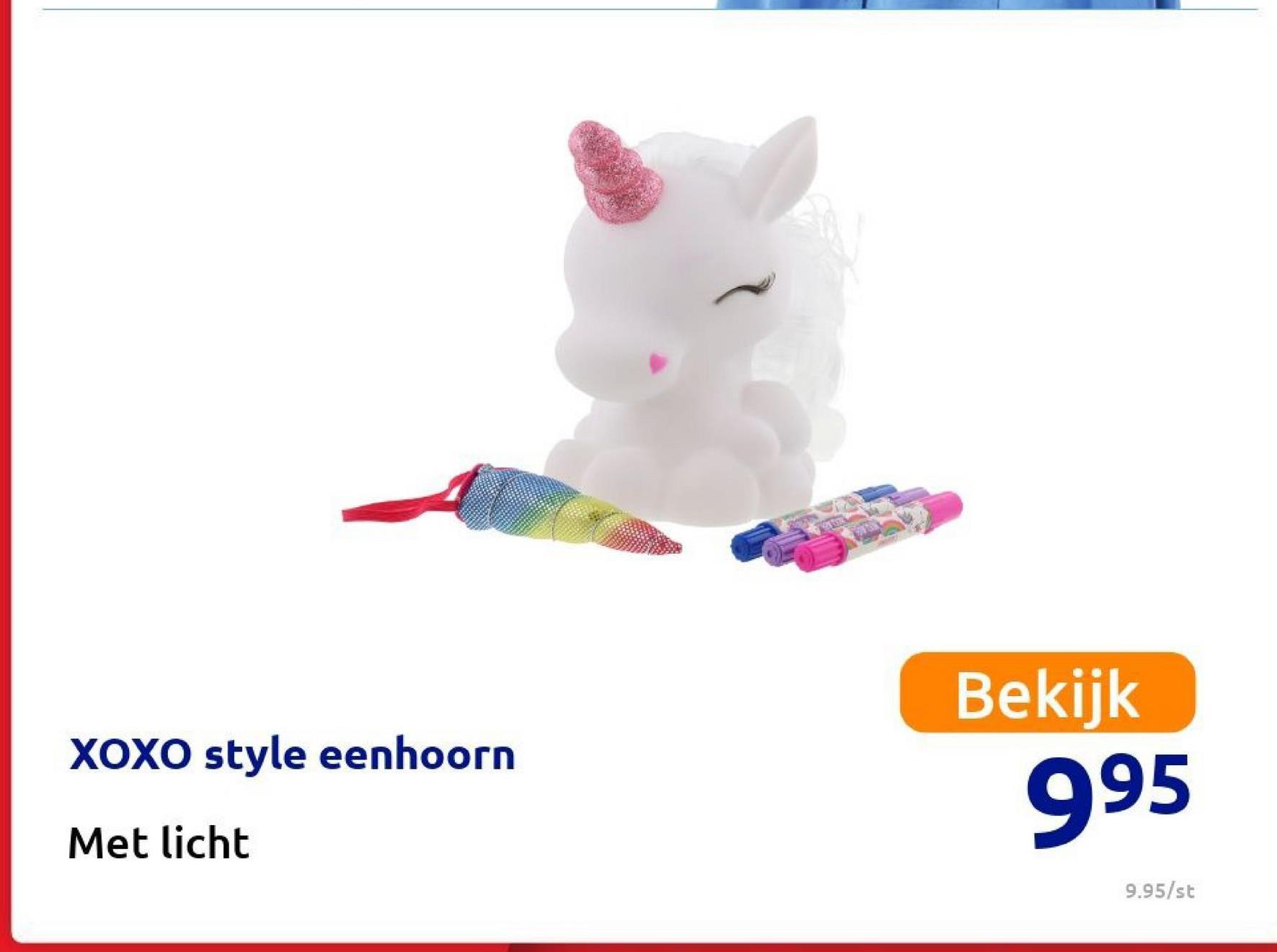 XOXO style eenhoorn Bekijk 995 Met licht 9.95/st