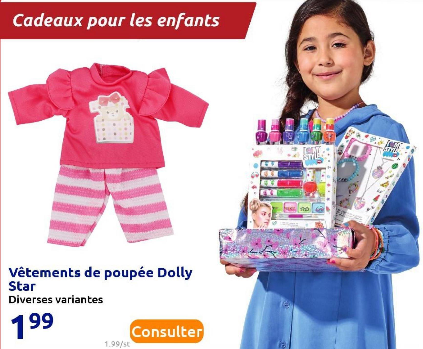 Cadeaux pour les enfants TEMY STYLE Ver Vêtements de poupée Dolly Star Diverses variantes 199 Consulter 1.99/st