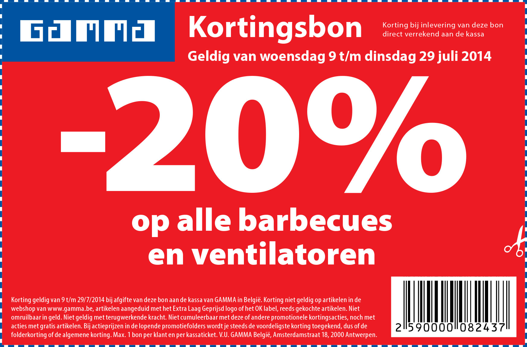 -20% op alle barbecues en ventilatoren
