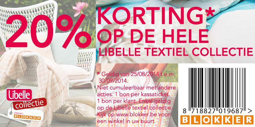 libelle 20 % korting op hele textiel collectie