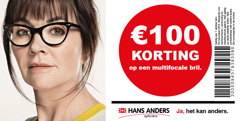 100€ korting op een multifocale bril