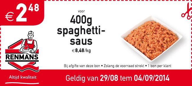 €2,48 voor 400g spaghettisaus