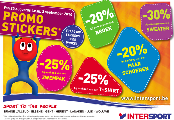 Promo stickers Intersport