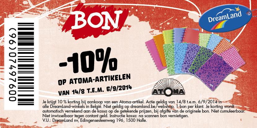 -10% op ATOMA artikelen
