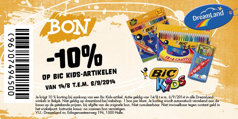-10% op BIC KIDS artikelen