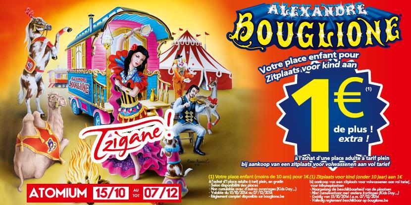 Bouglione - Zitplaats voor kind aan 1€ extra