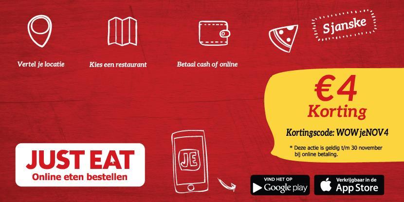 Just Eat €4 Korting