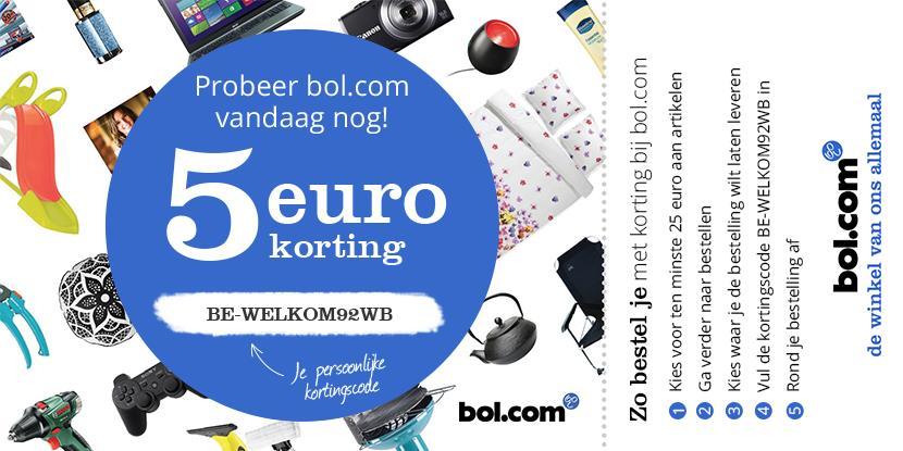 5 euro korting op bol.com