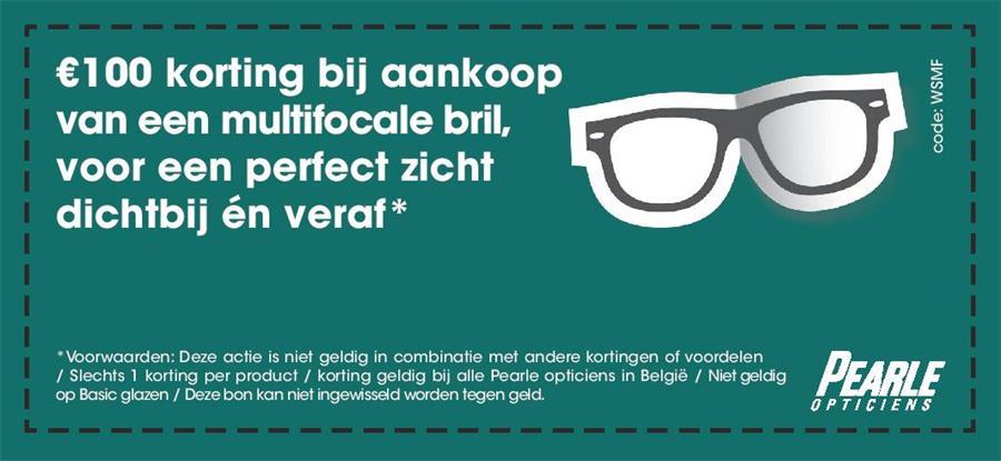 korting bij aankoop van een multifocale bril