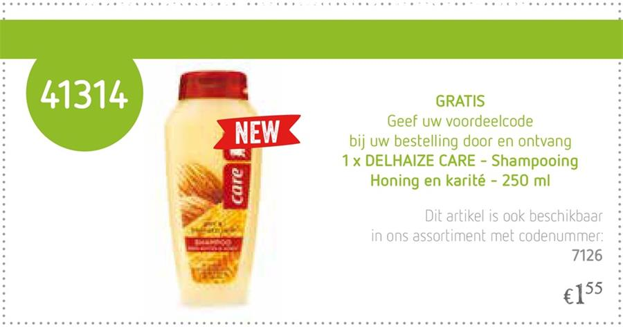Gratis Delhaize Care Shampoo Honing & Karité