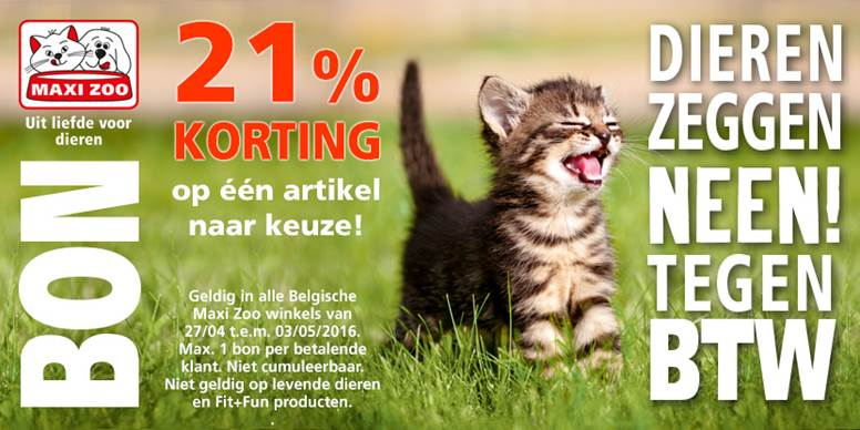 21% korting