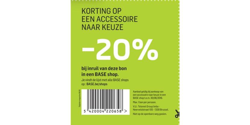 -20% korting op een accessoire naar keuze