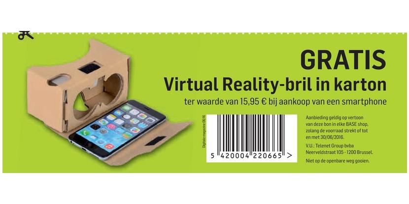 Gratis virual reality-bril