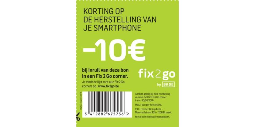 -10€ korting op de herstelling van je smartphone