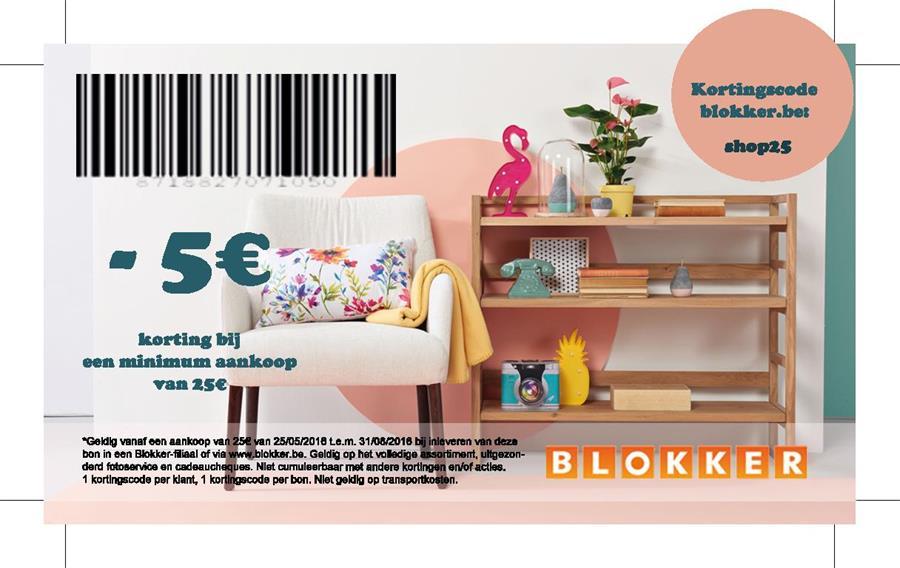 -5€ korting bij een minimum aankoop van 25€