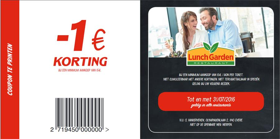 €1 korting