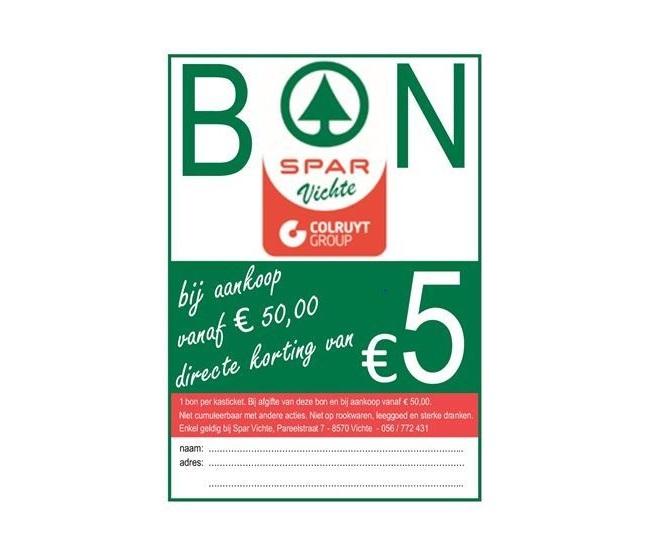 €5 korting bij aankoop van €50