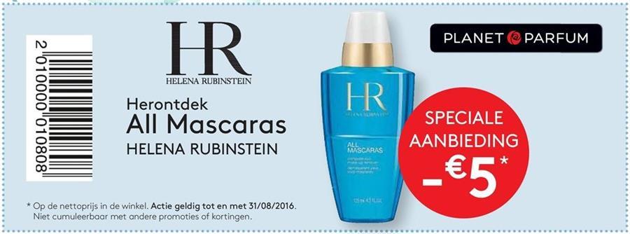5€ korting bij All Mascaras Helena Rubinstein