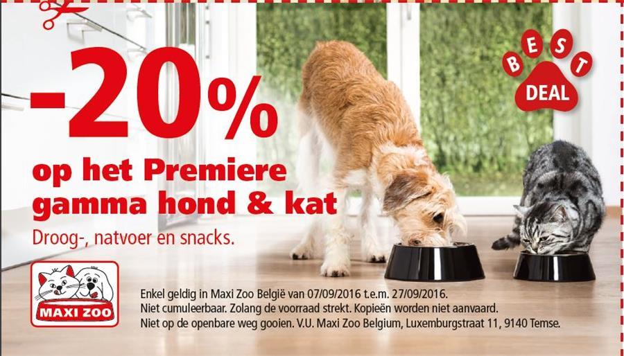 -20% op gamma hond& kat