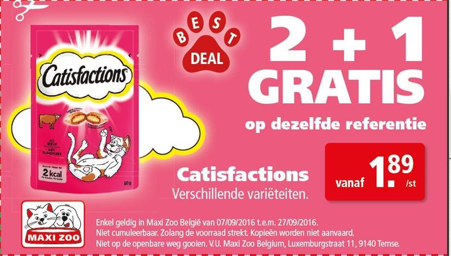 2+1 gratis catisfactions