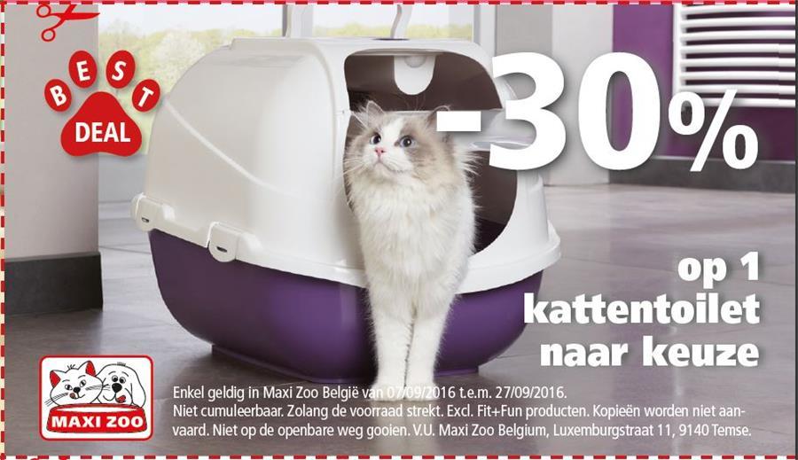 -30% op kattentoilet