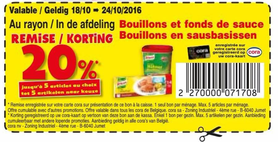 20% korting op bouillon