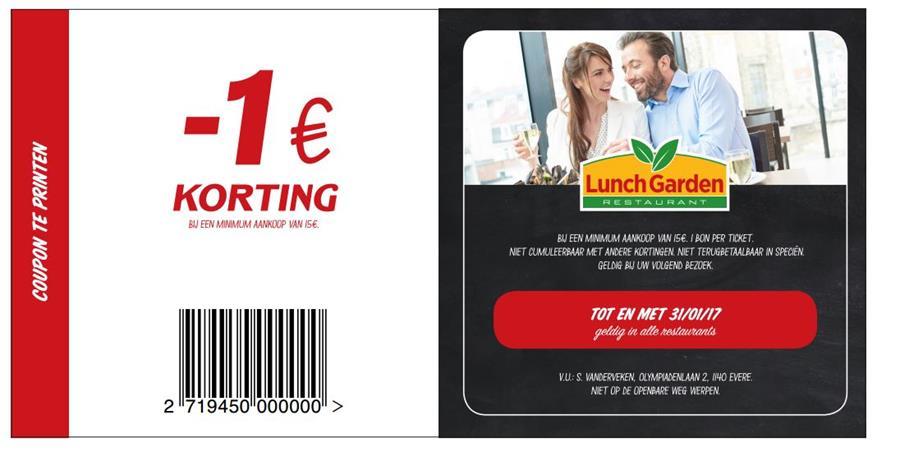 -€1 korting