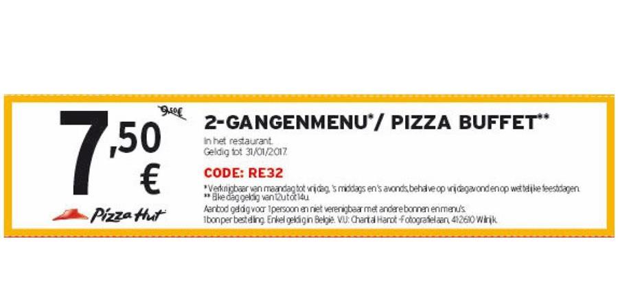 -7,5€ op Pizza buffet