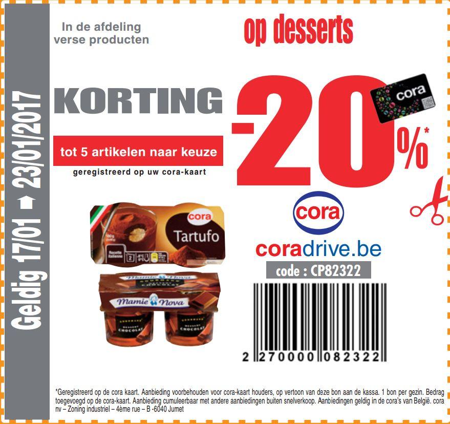 -20% op desserts