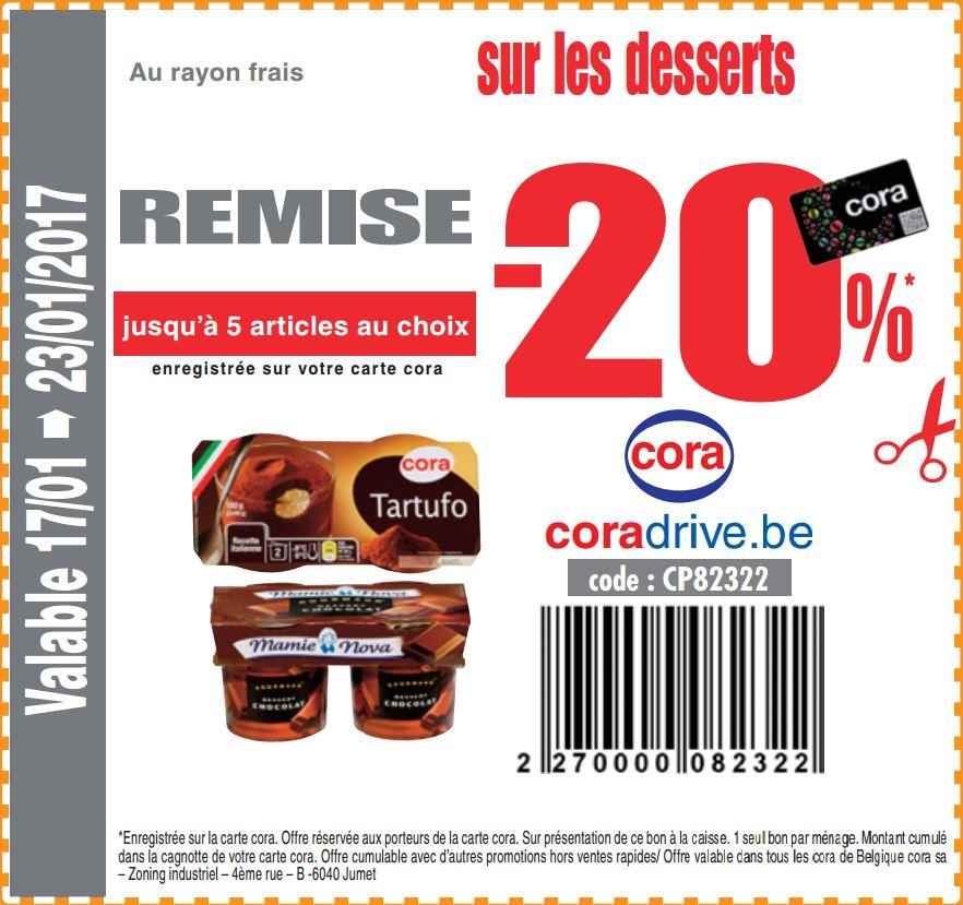-20% sur les desserts