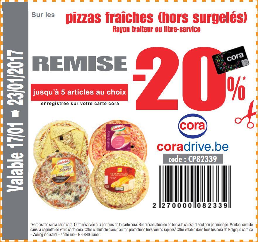 -20% sur pizza fraîches