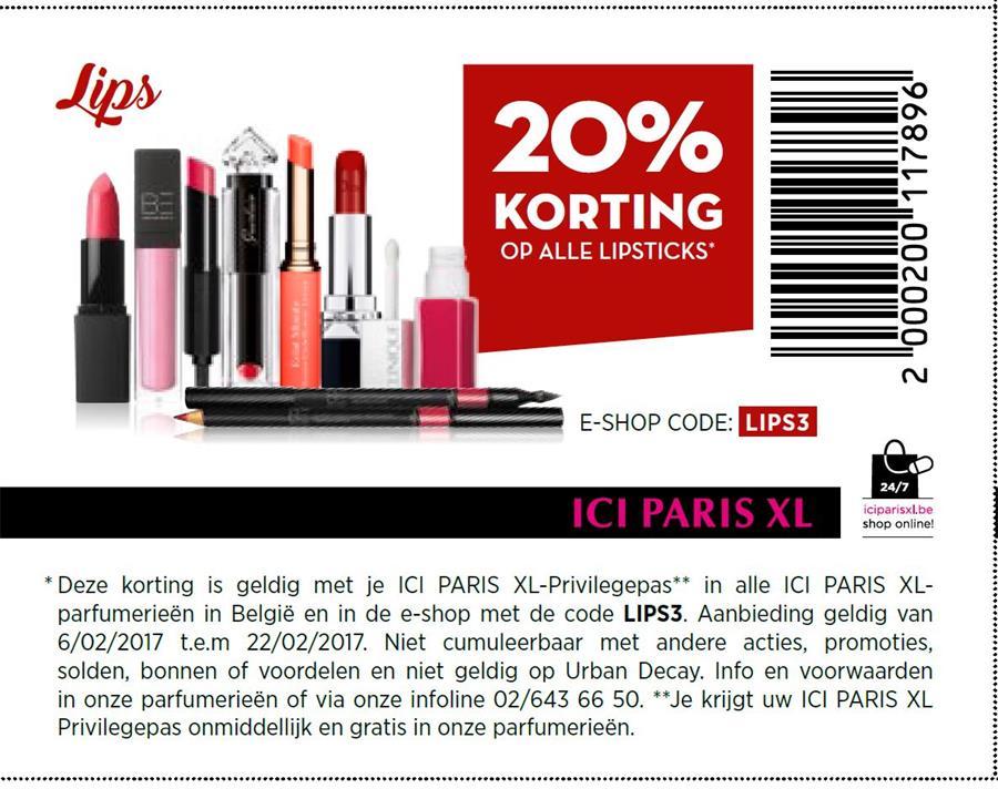 20% korting op lipsticks