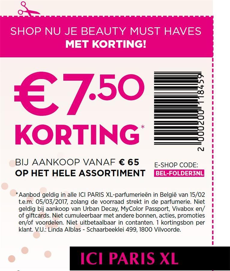 -7,5€ korting bij 65€