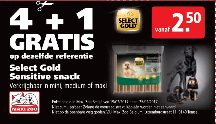 4+1 gratis op Select Gold Sensitive