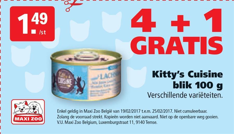 4+1 gratis op Kitty's Cuisine