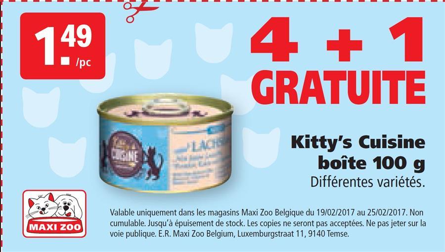 4+1 gratuite Kitty's cuisine